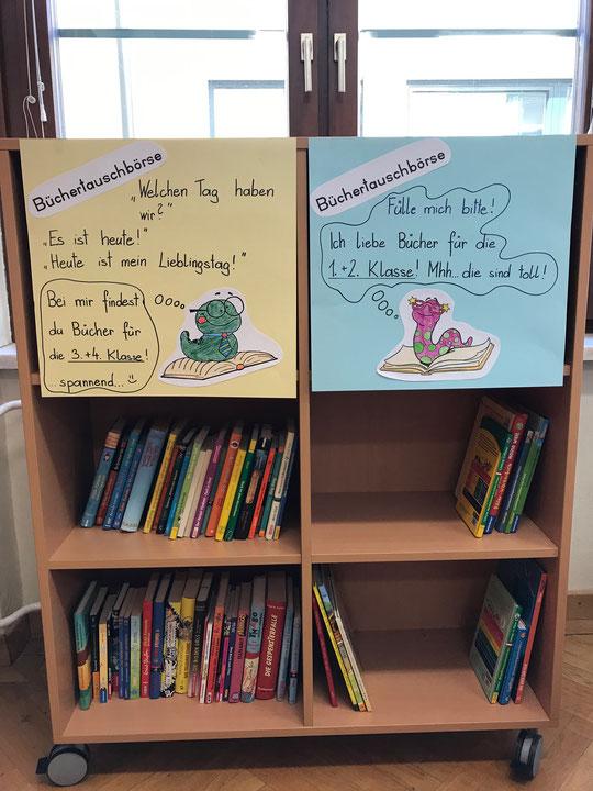 Bücherregal zum Tauschen von Büchern
